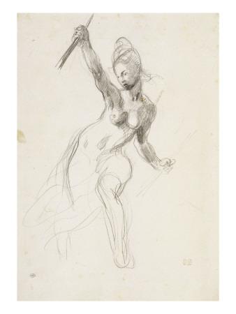 delacroix-eugene-femme-a-demi-nue-brandissant-un-baton-etude-pour-la-liberte-guidant-le-peuple-1830
